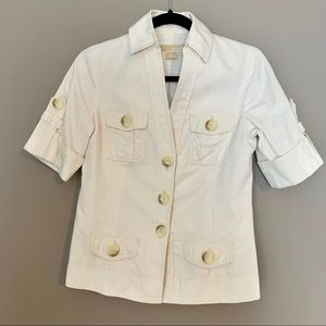 Michael Kors Cream Colored Button Front Jacket